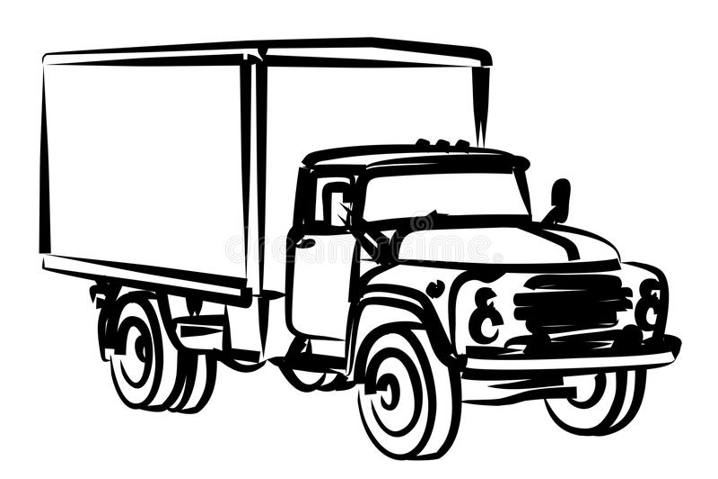 Croquis de camion illustration stock