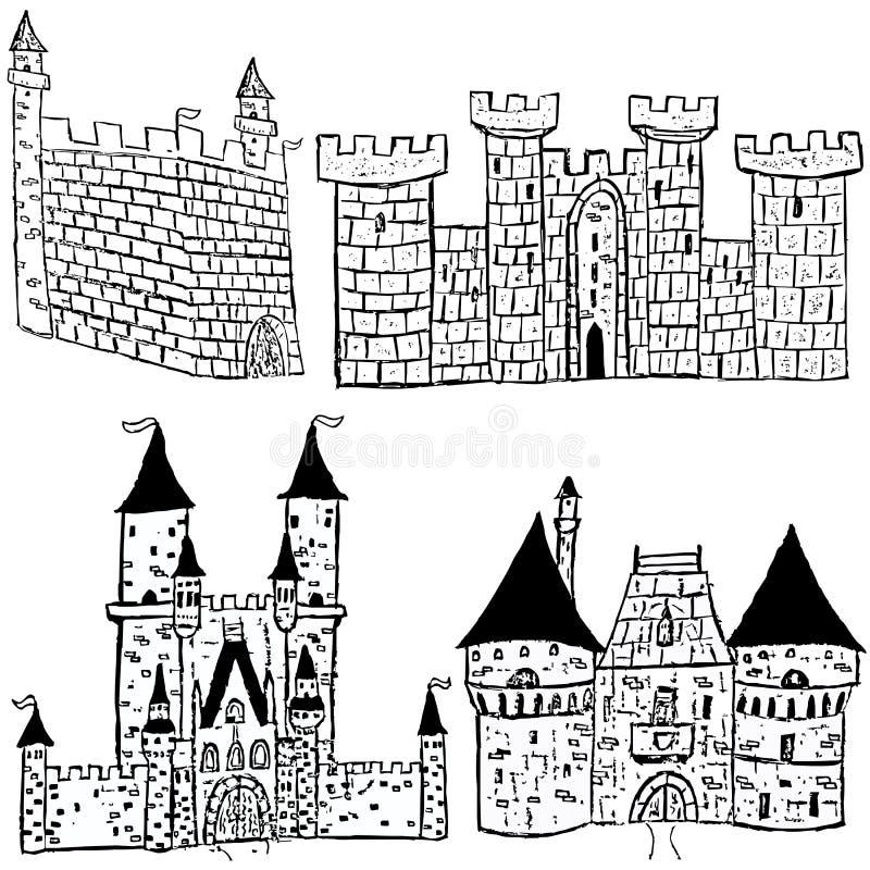 Croquis de château illustration de vecteur