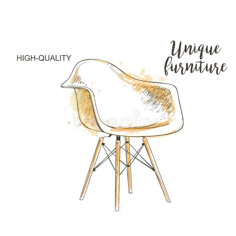 Croquis de chaise illustration stock