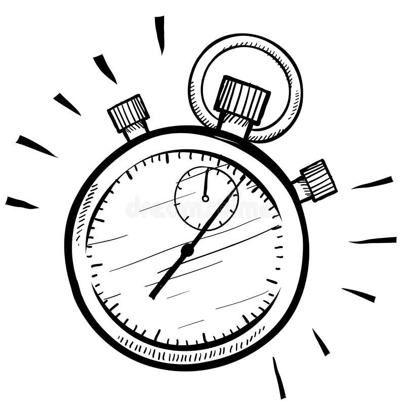 Croquis de chronomètre illustration stock
