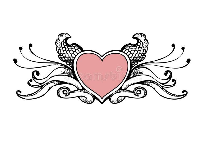 Croquis de coeur illustration stock