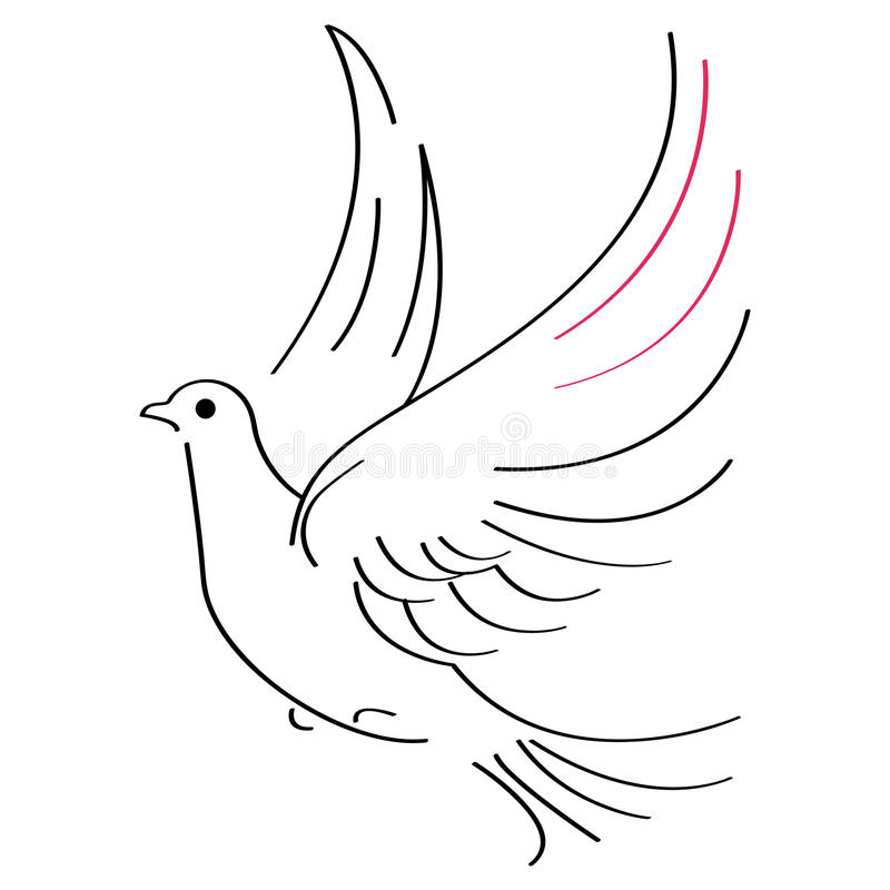 Croquis de colombe illustration stock