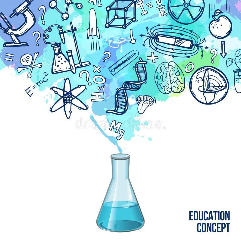 Croquis de concept d'éducation illustration libre de droits
