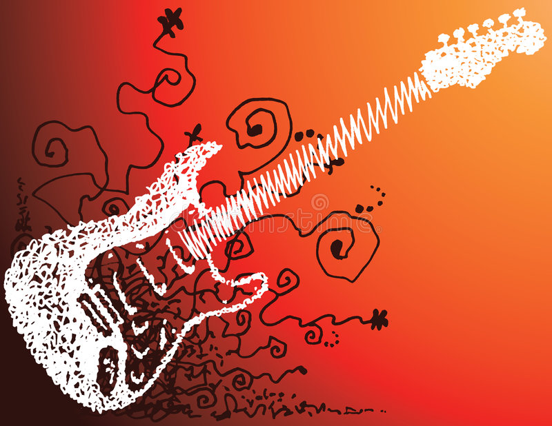 Croquis De Guitare Images stock