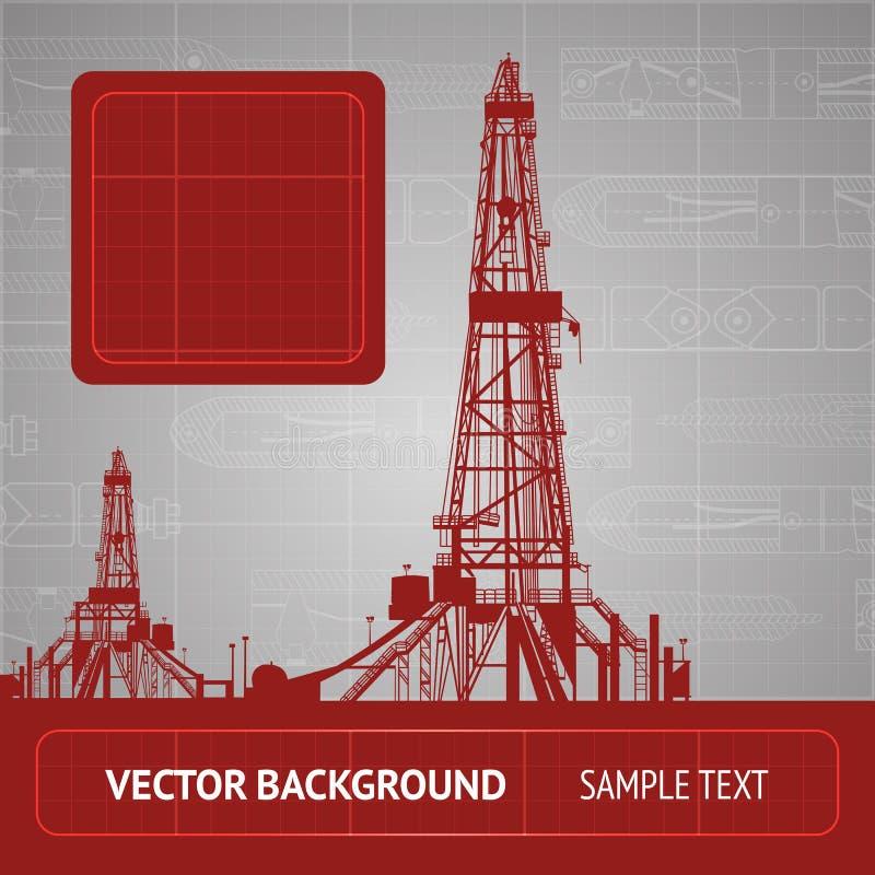 Croquis de la plate-forme pétrolière illustration libre de droits