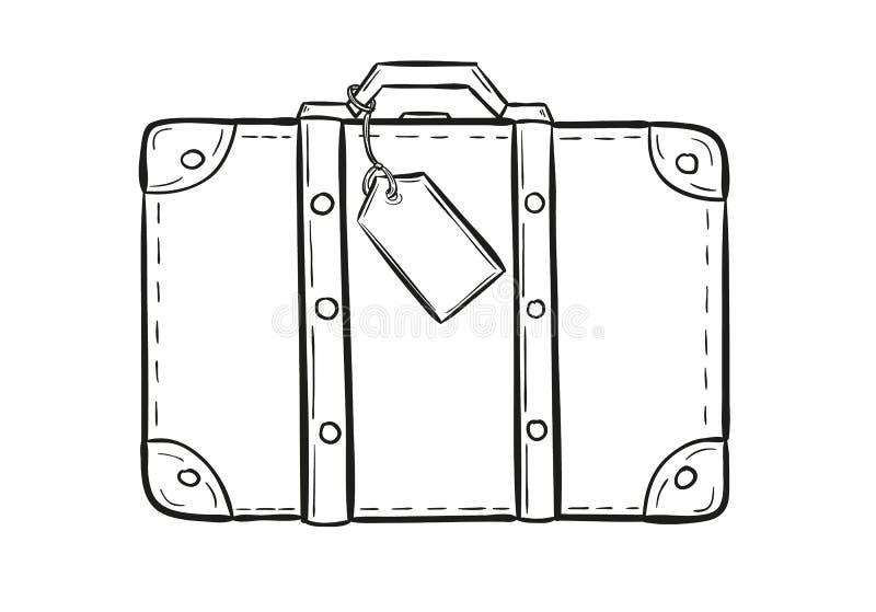 Croquis de la valise illustration libre de droits