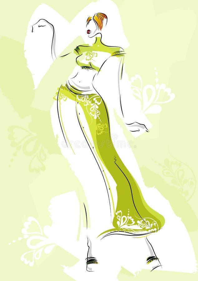 Croquis de mode, vecteur illustration libre de droits