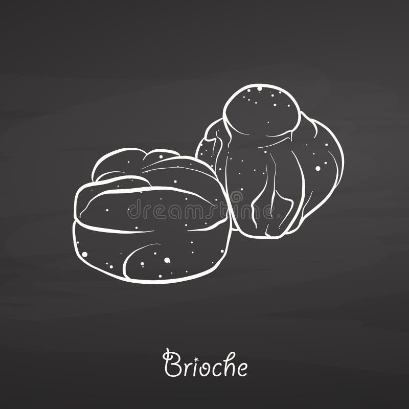 Croquis de nourriture de brioche sur le tableau illustration de vecteur