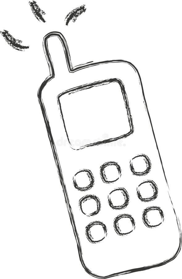 Croquis de téléphone portable image stock