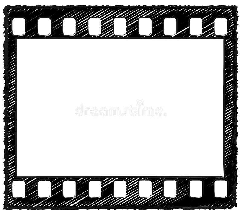croquis de trame de 35mm illustration de vecteur
