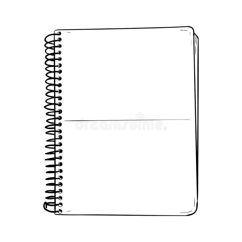 Croquis de vecteur de bloc-notes illustration stock