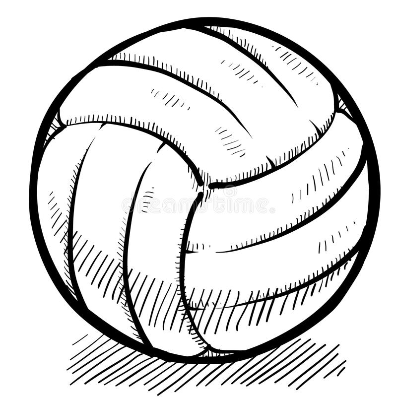 Croquis de volleyball illustration de vecteur