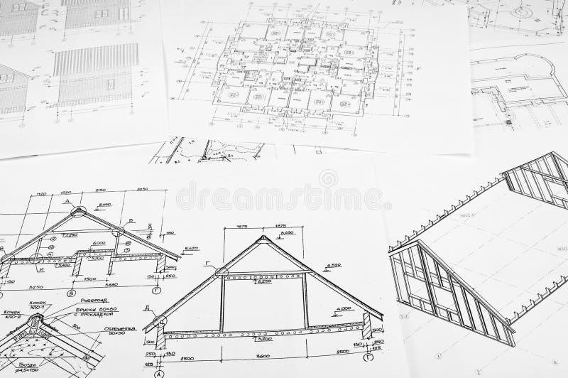 Croquis des constructions photos stock