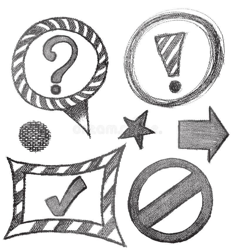 Croquis des flèches et des cadres pour votre conception illustration de vecteur