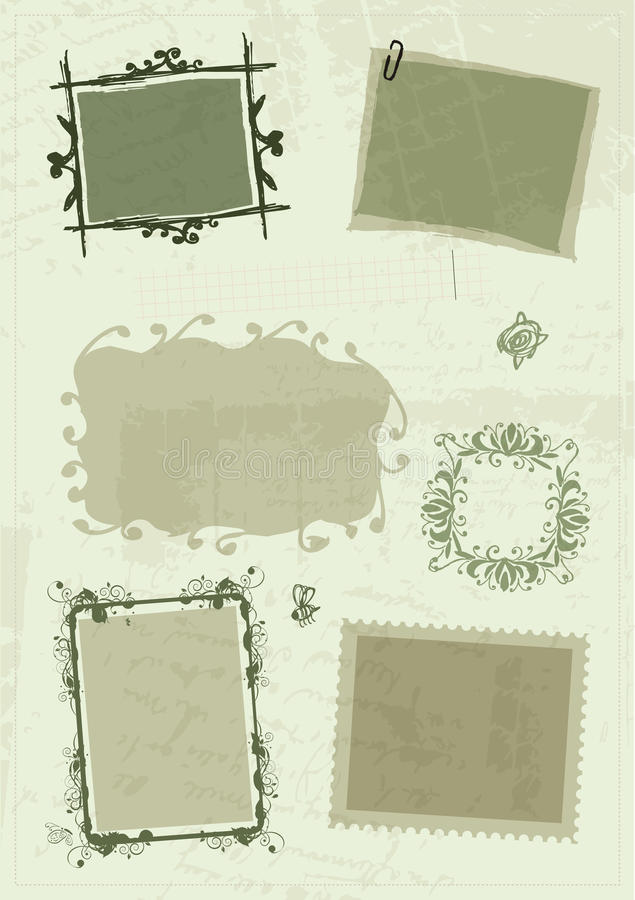 Croquis des trames, retrait de main pour votre conception illustration stock
