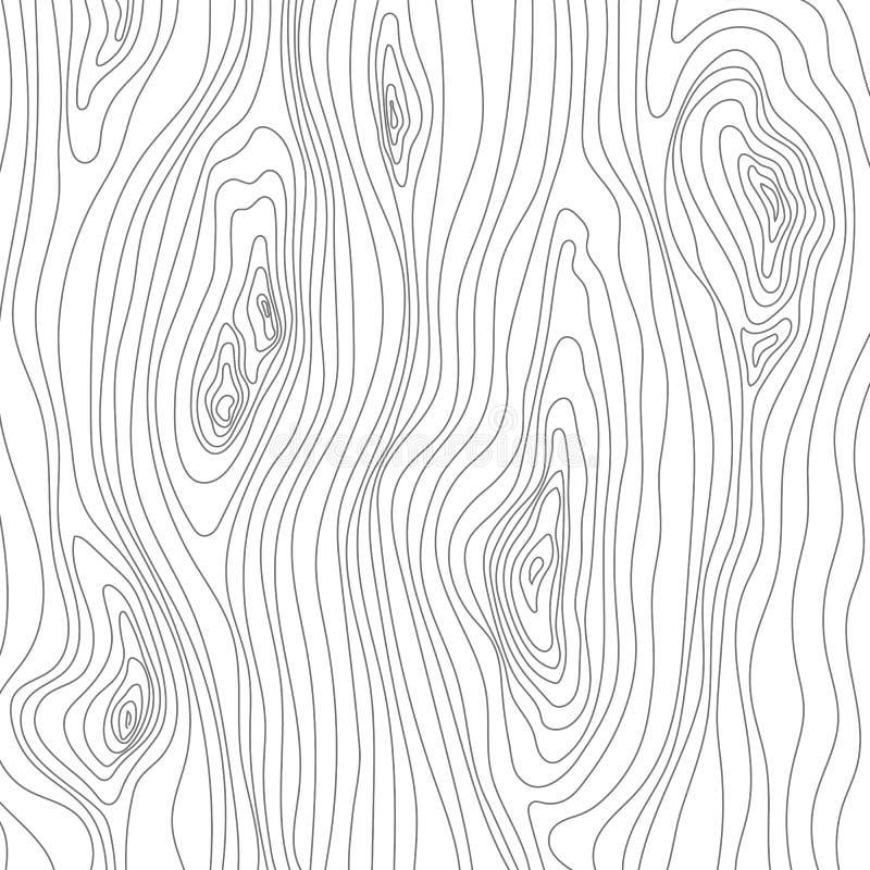 Croquis en bois de texture Surface de couverture de grain Fibres en bois Fond de vecteur illustration de vecteur