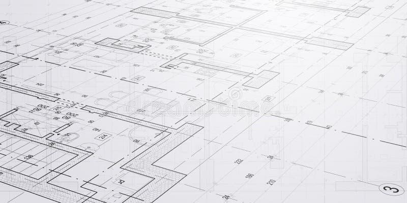 Croquis et dessins d'architecture photographie stock