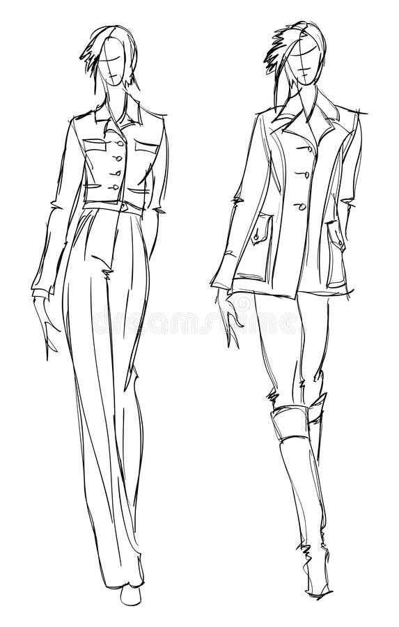 CROQUIS. fille de mode.