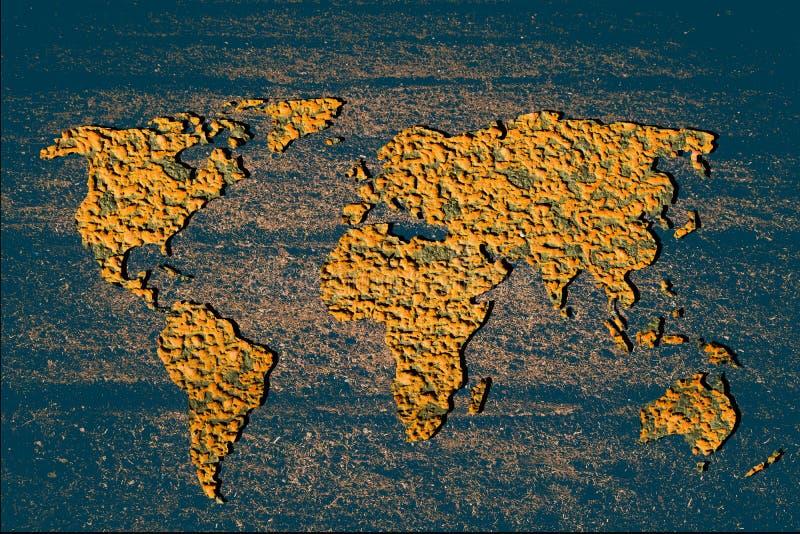 Croquis hacia fuera el mapa del mundo con los modelos imagenes de archivo