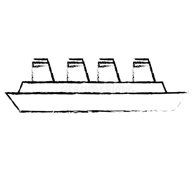 Croquis Maritime De Voyage De Bateau De Croisiere Illustration Stock Illustration Du Bateau Maritime 84024049
