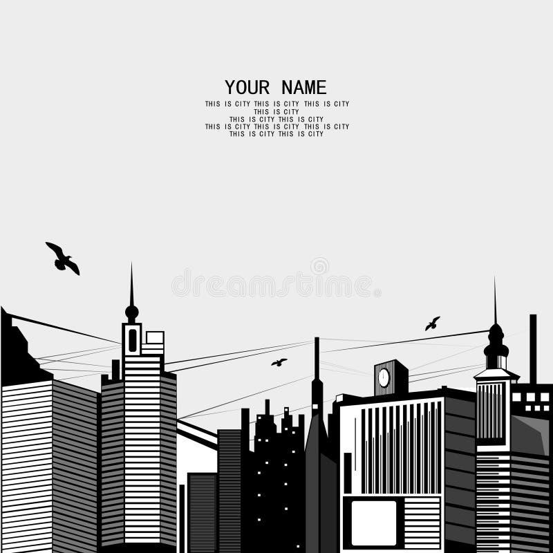 Croquis urbain illustration de vecteur
