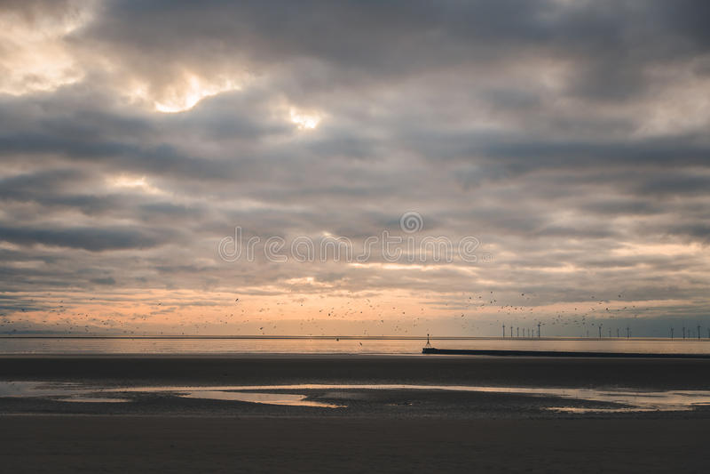 Crosby plaża fotografia stock