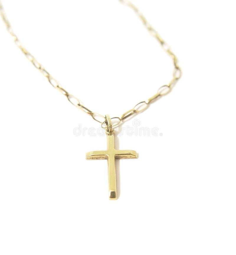 Download Cross łańcuszkowy złoto obraz stock. Obraz złożonej z złoto - 46737