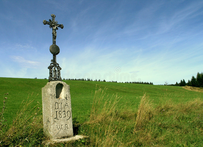 cross 1839 przydroże obraz stock