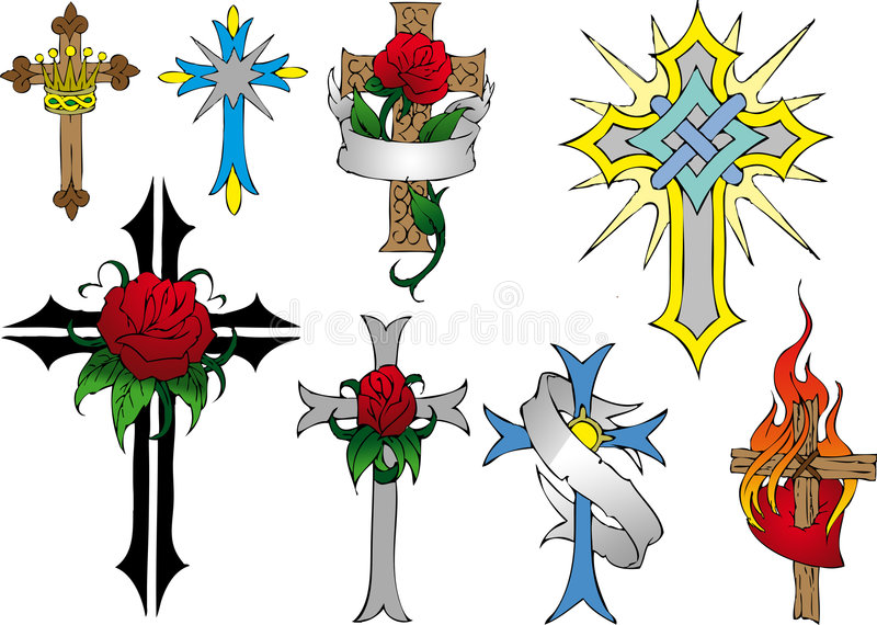Download Cross stock illustration. Image of cross, religious, rose - 5020730