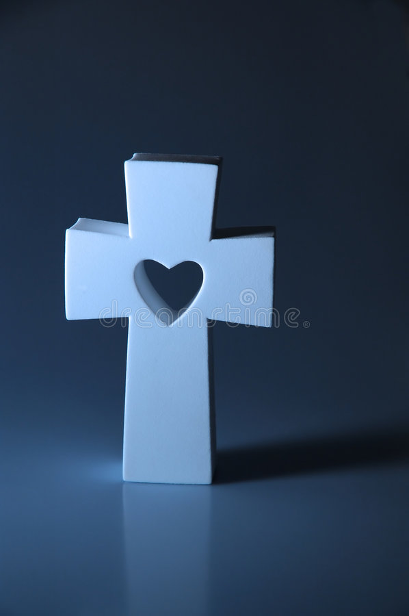 Download Cross stock photo. Image of cross, sacred, love, give, blue - 612272