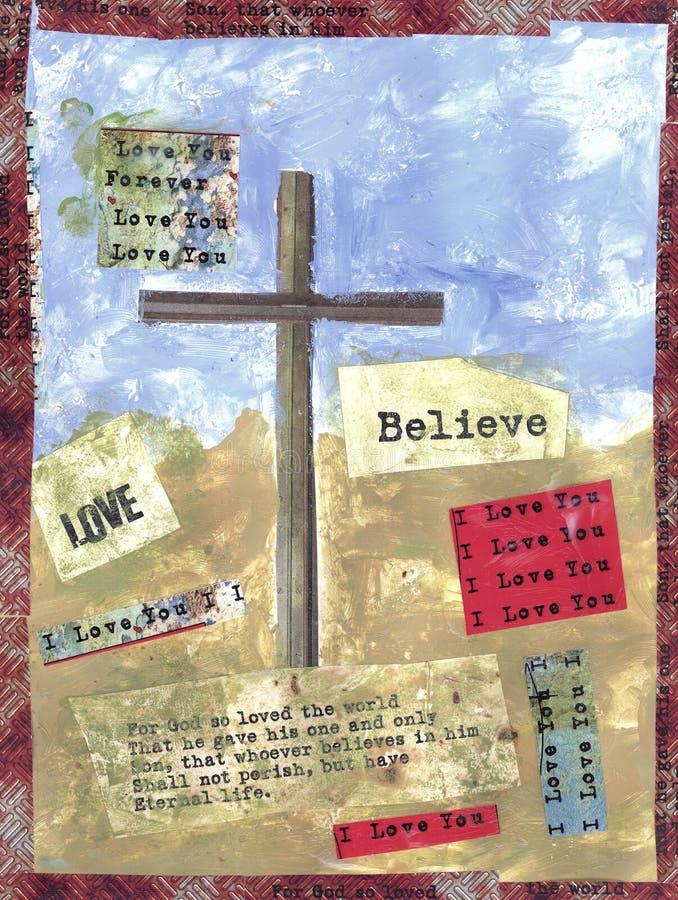 Download The Cross stock illustration. Illustration of world, jesus - 8458408