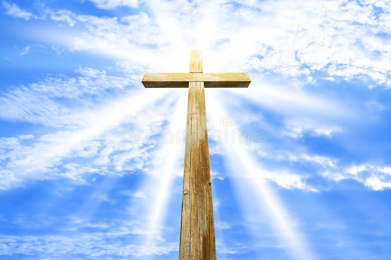 Download Cross against the sky stock photo. Image of faith, tree - 13824190
