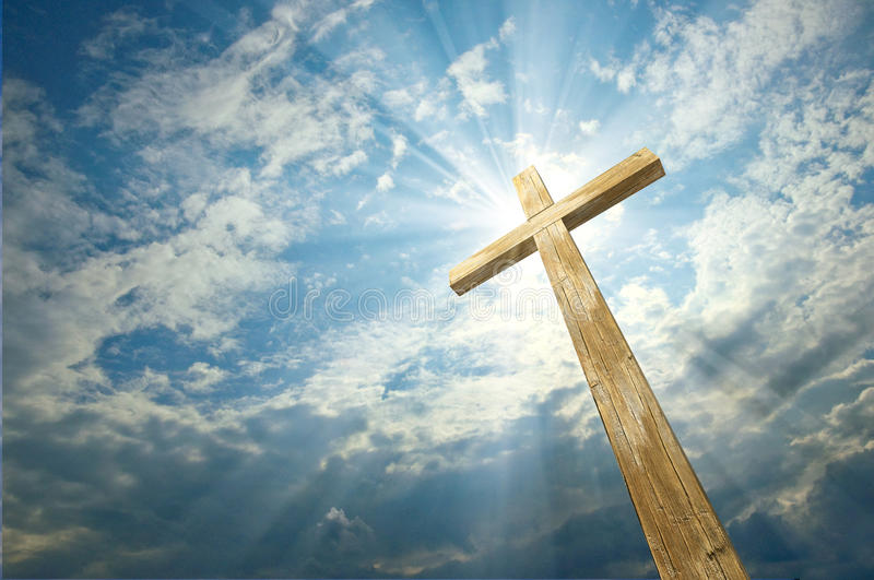 Cross against the sky royalty free stock photo