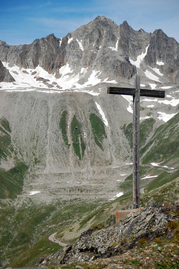 Download Cross in the Alps stock photo. Image of death, memorial - 10603678