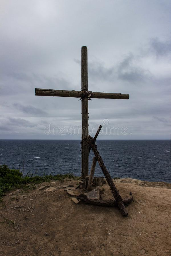 The cross and the anchor royalty free stock photo