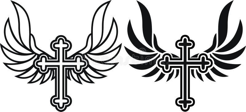 Angel Wings Cross Stock Illustrations 1 231 Angel Wings Cross Stock Illustrations Vectors Clipart Dreamstime