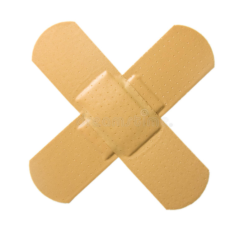 Cross Bandaid royalty free stock images