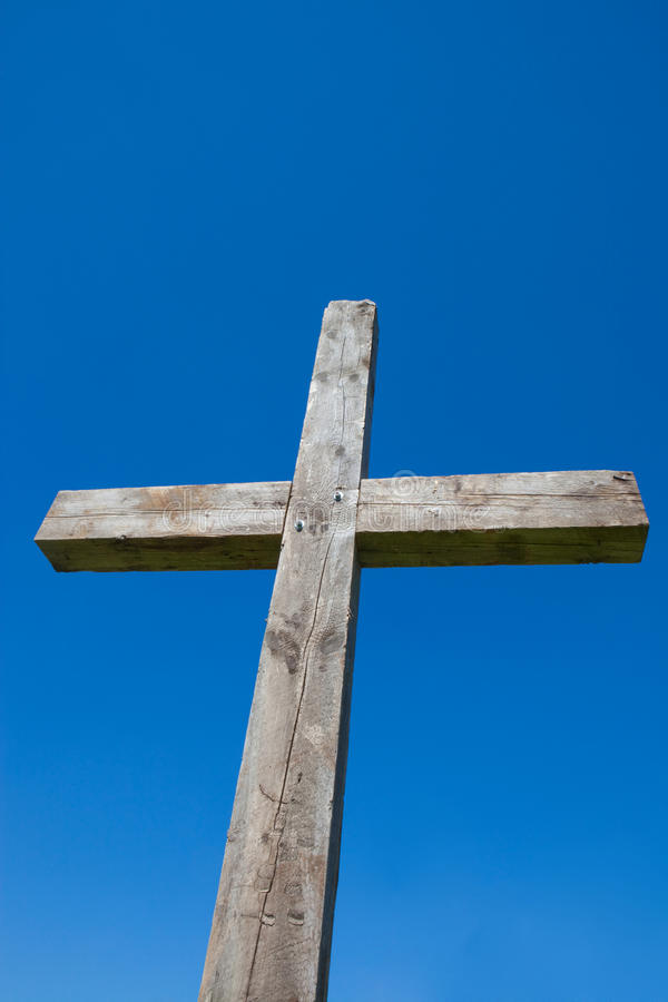 Download Cross with Blue Sky stock photo. Image of christian, religion - 14340422