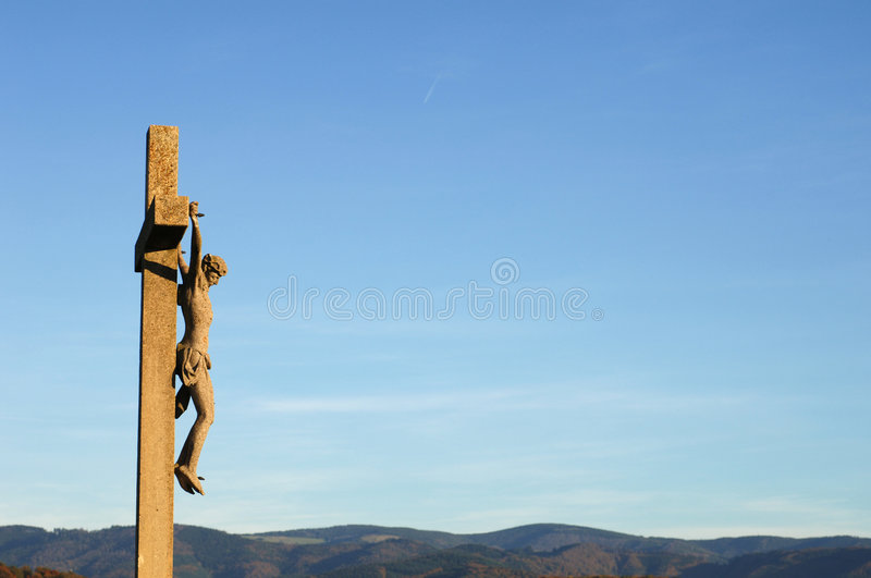 Cross and blue sky. Black Forest, Germany royalty free stock images