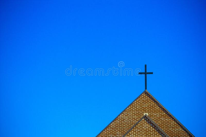 Cross With Blue Sky stock image