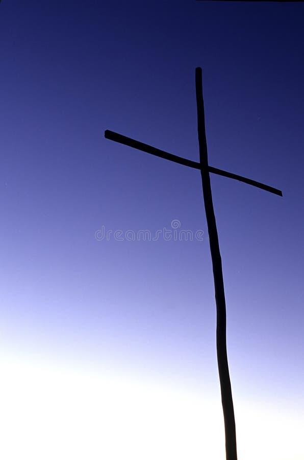 Cross- Bolivia. Cross near small church in the village of Cha'lla on the Isla del Sol- Lake Titcaca, Bolivia stock image