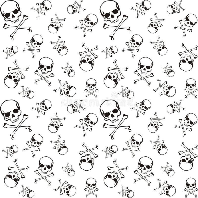 Cross bones pattern royalty free illustration