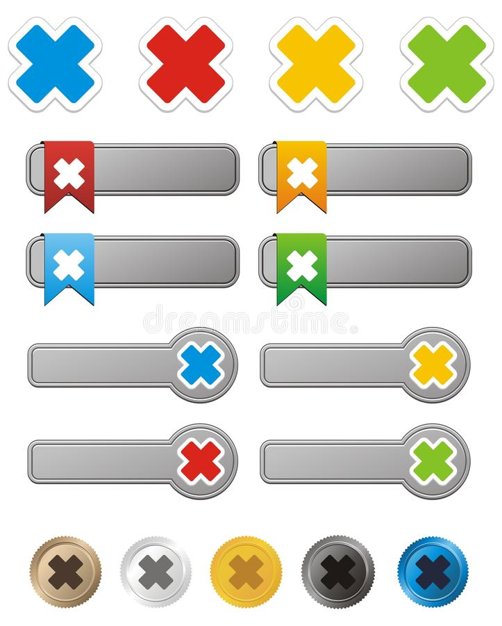 Cross Button Kit Stock Image