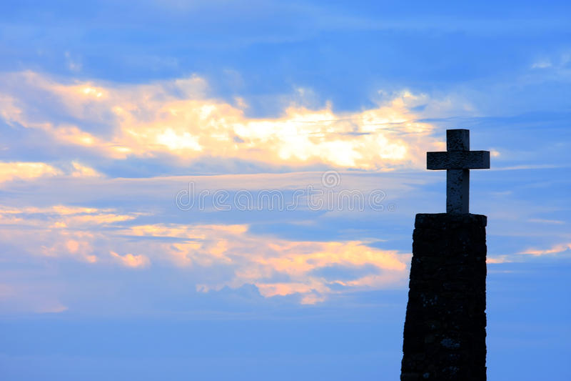 Download Cross Of Cabo Da Roca At Sunset, Portugal Stock Images - Image: 20366944
