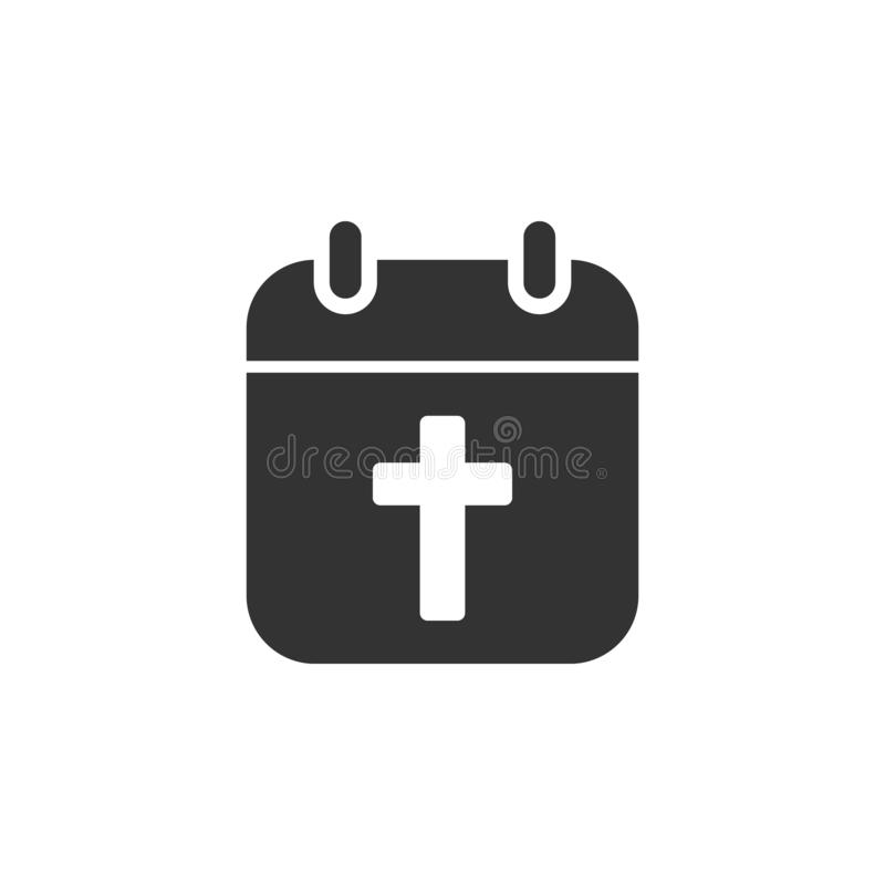 Cross, calendar icon. Element of Easter holidays for mobile concept and web apps. Detailed Cross, calendar icon can be used for stock illustration
