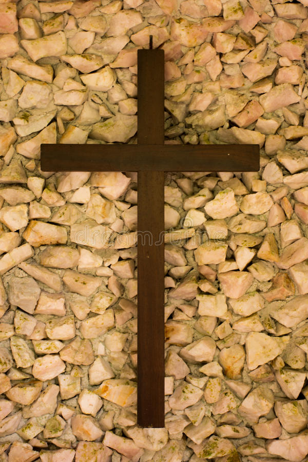 Cross - Catholic Religion. Symbols of faith and respect for the Catholic Church and Catholics in the world, the Christian religion stock photo