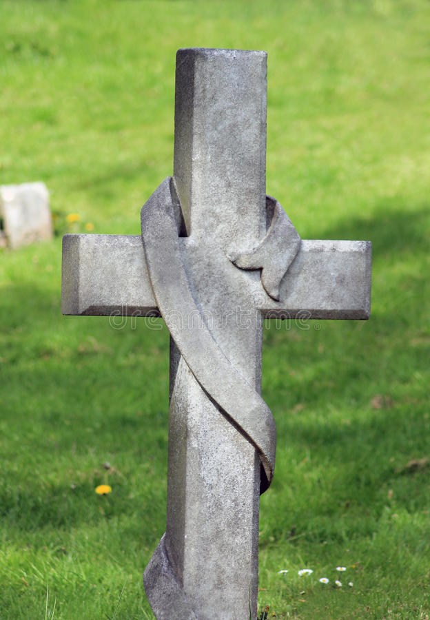 Download Cross in cemetery stock image. Image of cross, summer - 24854889