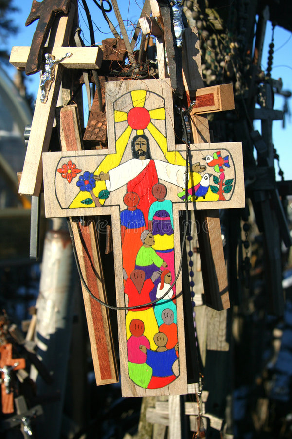 Cross with Christ royalty free stock image