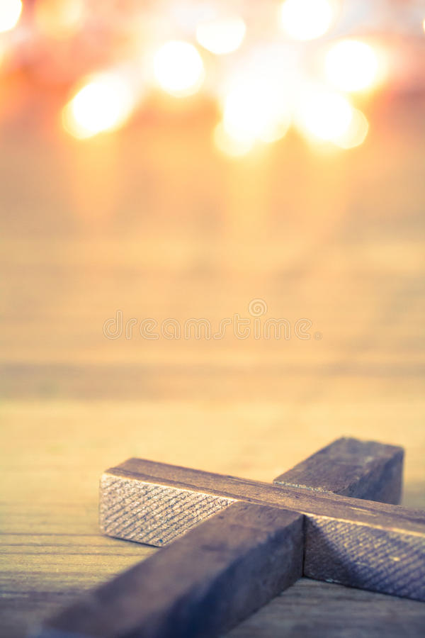 cross christiana drewniane fotografia stock