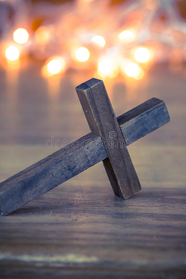 cross christiana drewniane fotografia royalty free